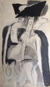 Albert BITRAN - Painting - Intérieur-Extérieur