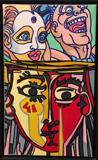 ERRÖ - Pittura - Hommage à Picasso