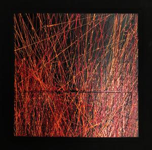 Michel BISBARD - Peinture - Dripping rouge