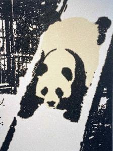 Rob PRUITT - Pittura - Panda Slide