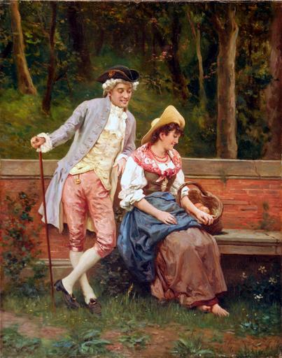 Federico ANDREOTTI - Gemälde - Corteggiamento