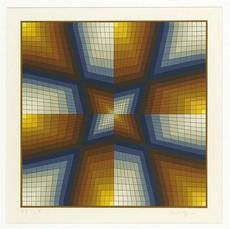 Victor VASARELY - Grabado - Composition Cinetique