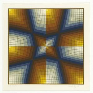Victor VASARELY - Estampe-Multiple - Composition Cinetique