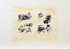 Henry MOORE - Print-Multiple - Eight sculptural ideas, girl writing