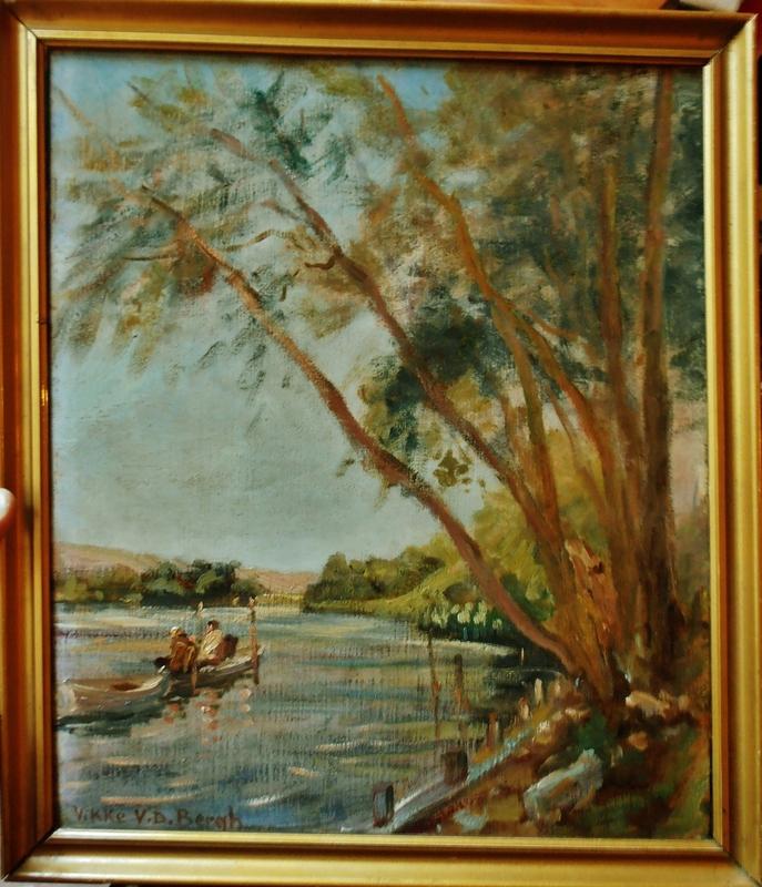 Vikke VAN DER BERGH - Peinture - La Seine à Bonnières