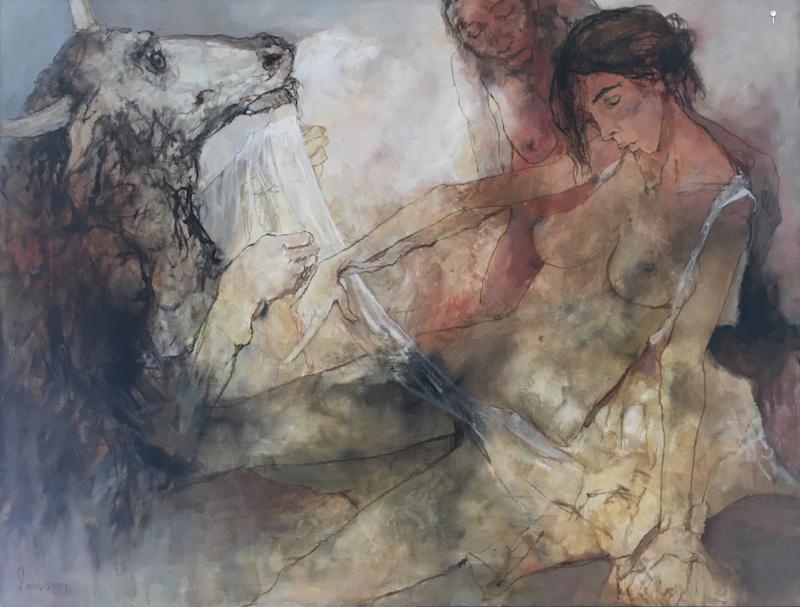 Jean JANSEM - Gemälde - Le Minotaure