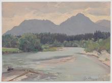 "Josef Franz WEINWURM - Peinture - ""Near Freilassing, Upper Austria"", Oil Painting, 1951"