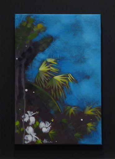 Anne Christine WELLENSTEIN - Peinture - Ciel d 'Azur