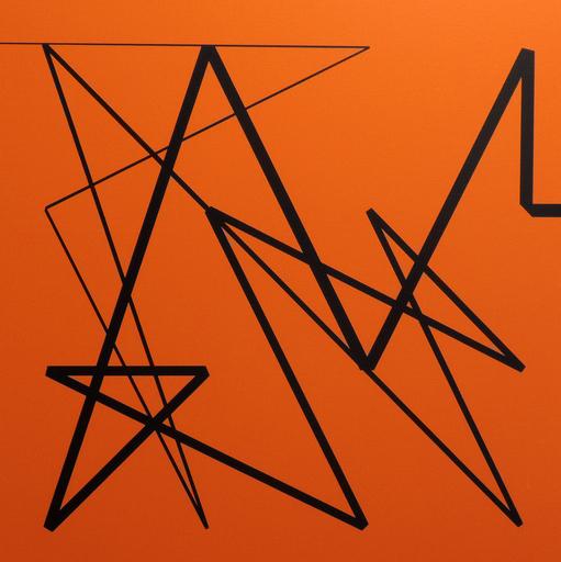 Véra MOLNAR - Painting - Carré magique à la bande pliée D