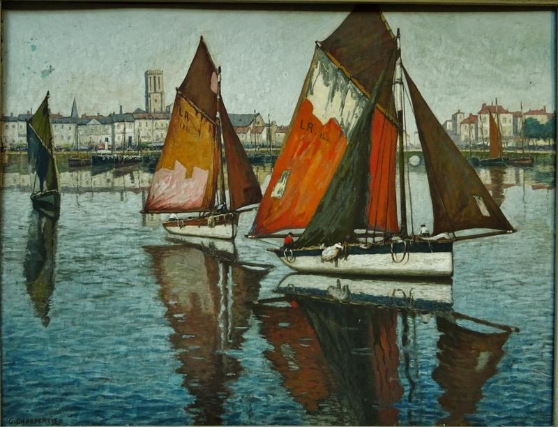 Georges CHARPENTIER - Drawing-Watercolor - Port de La Rochelle