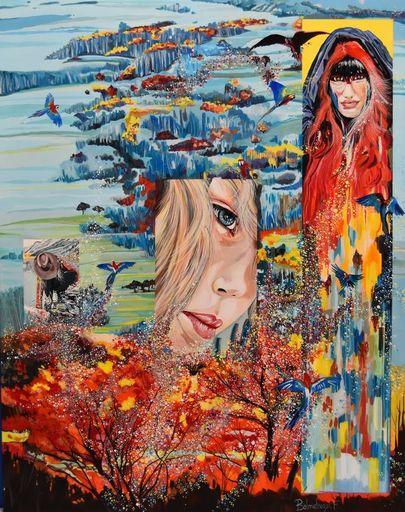Frederic BALMEFREZOL - Peinture - Amazone