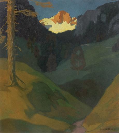Karl KASBERGER - Peinture - Hinterstoder