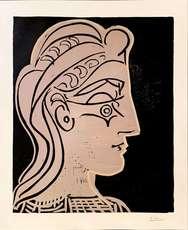 Pablo PICASSO - Print-Multiple - Tete de Femme de profil