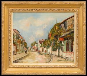 Maurice UTRILLO - Painting - Rue Grande, Barbizon