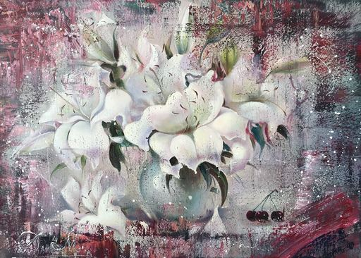 Diana MALIVANI - Painting - The Shadows of White