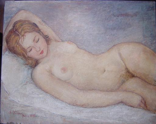 Samson FLEXOR - Gemälde - Nu à Paris 1932