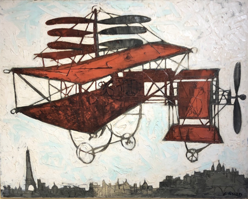 Claude VENARD - Painting - La machine volante