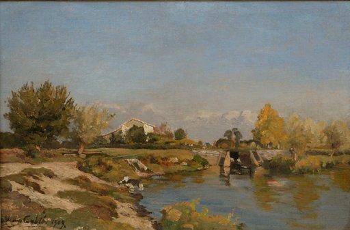 """Louis Alexandre CABIÉ - Pintura - """"PAYSAGE ENSOLEILLE 1909"""""""