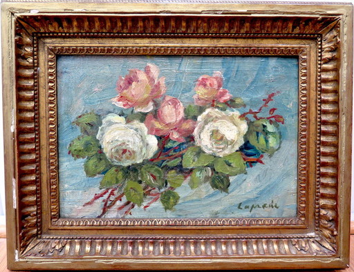 Pierre LAPRADE - Gemälde - Bouquet de fleurs