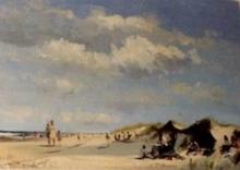 Roy PETLEY - Painting - Le repos dans les dunes