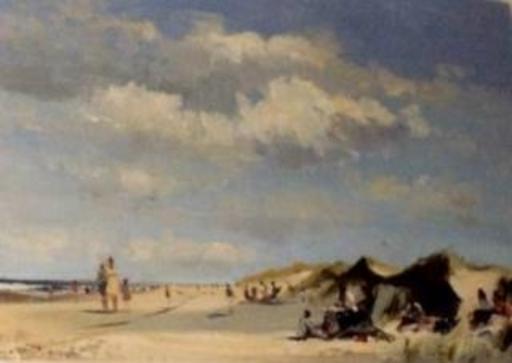 Roy PETLEY - Pittura - Le repos dans les dunes