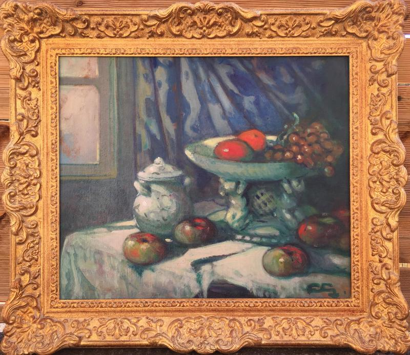 Louis FORTUNEY - Pintura - NATURE MORTE