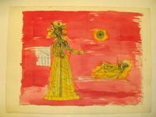 "Jean CARZOU - Dibujo Acuarela - "" Deux Femmes"" 1975"