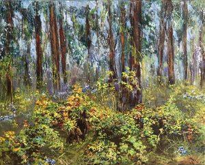 Diana MALIVANI - Pittura - At Raspberry Bush