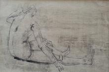 Pietro ANNIGONI - Drawing-Watercolor - manichino metafisico (1941)