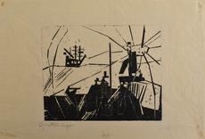 Lyonel FEININGER - Print-Multiple -  On the Quay | Am Quai