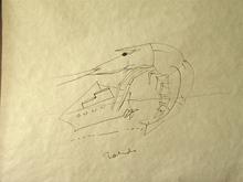 Francisco TOLEDO - Drawing-Watercolor - Camaron y la barca