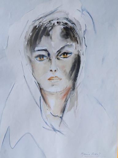 Marina GREKOFF - Drawing-Watercolor - PORTRAIT - FEMME - ПОРТРЕТ
