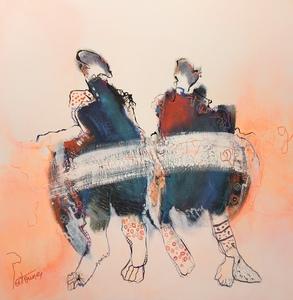 PATOUNE - Painting - A deux
