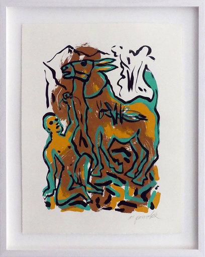 A.R. PENCK - Print-Multiple - Das Meer, der liebe Gott und das Muli