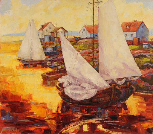 Elena KALLISTOVA - Painting - Golden Port