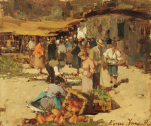 Alessio ISSUPOFF (1889-1957) - At the Marketplace