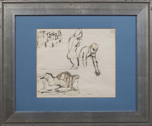 Mario SIRONI - Drawing-Watercolor - Studio