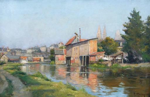 "Georges P. MARONIEZ - Painting - Quimper ""septembre 1900"""