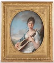 """Johann Heinrich SCHRÖDER - Miniature - """"Princess Therese von Thurn und Taxis"""", Royal Collection"""