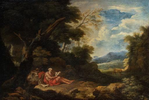 Carlo Antonio TAVELLA - Gemälde - Saint Jerome in the desert