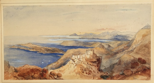 Edward LEAR - 水彩作品 - Eze 1847