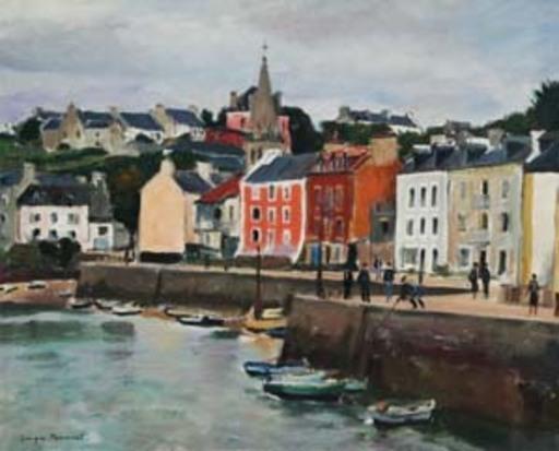 Georges PACOUIL - Painting - Le port de Sauzon
