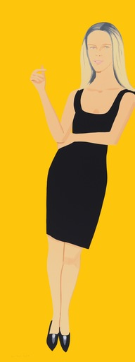 Alex KATZ - Grabado - Black Dress - Yvonne