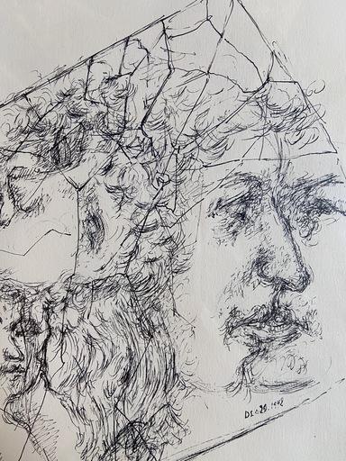 Chaim GROSS - Druckgrafik-Multiple - Composition avec visages