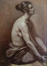 Emile Henri BERNARD - Painting - Portrait of nude woman, Stella, 1925