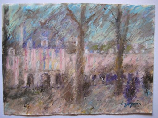 Pierre GOGOIS - Drawing-Watercolor - 3 DESSINS AU PASTEL GRAS SIGNÉS 3 SIGNED PASTEL DRAWING
