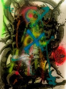 Christine DUMAS DE RAULY - Gemälde - Cosmos