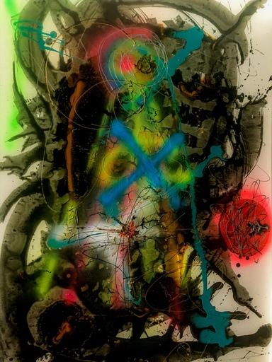 Christine DUMAS DE RAULY - Peinture - Eole