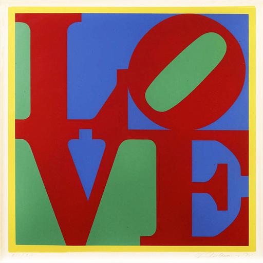 罗伯特•印第安纳 - 版画 - HELIOTHERAPY LOVE