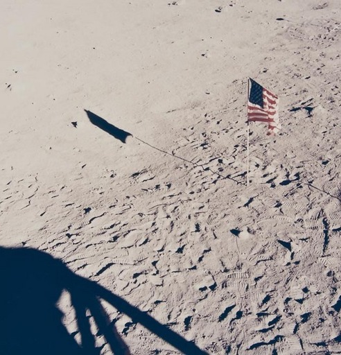 N.A.S.A. - Photography - The American Flag on the Moon, Apollo 11